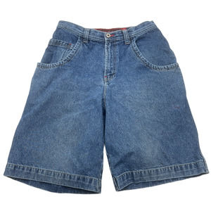 Vintage 90s JNCO Jeans Shorts 34 Embroidered Crown
